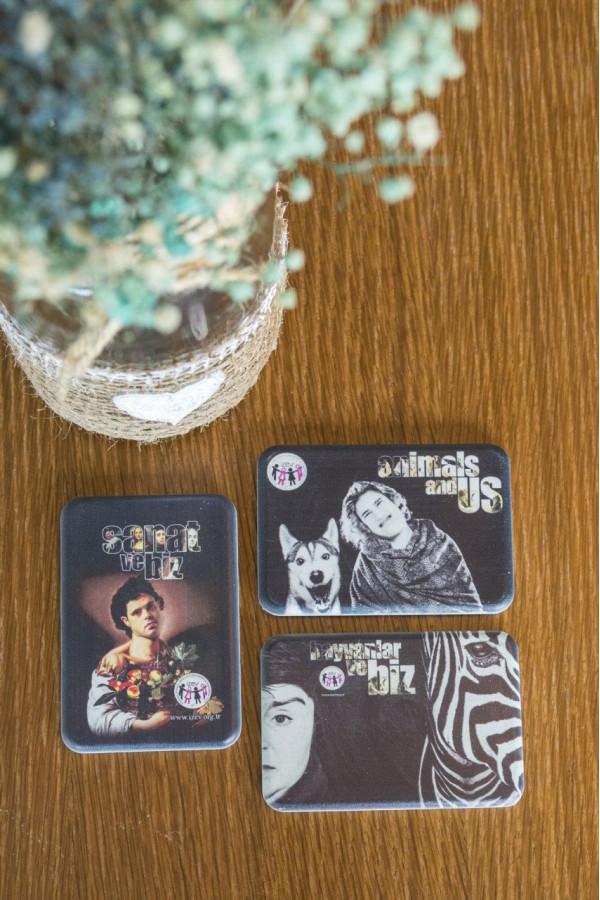 """İZEV - """"Sanat ve Biz & Hayvanlar ve Biz"""" 3'lü Özel Tasarım Magnet"""