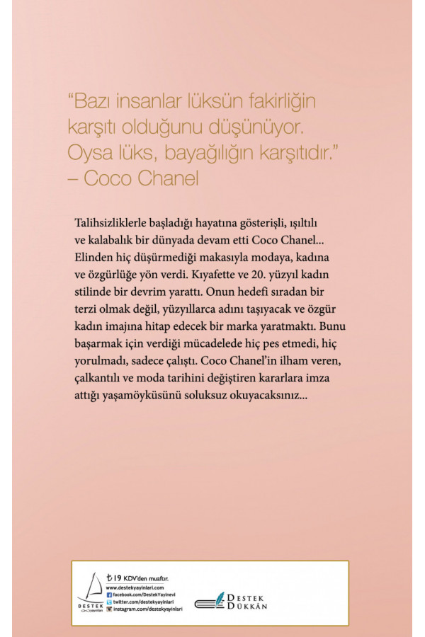 Moda Geçer Stil Kalır - Coco Chanel