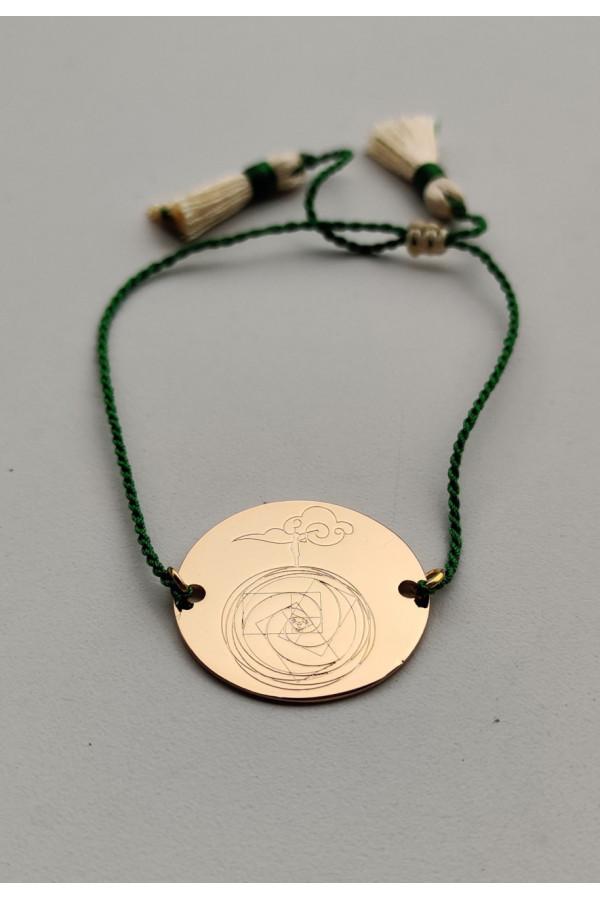 Bircan Yıldırım Yeni Dünya Düzeni Sembollü- Altın Kaplama Bileklik