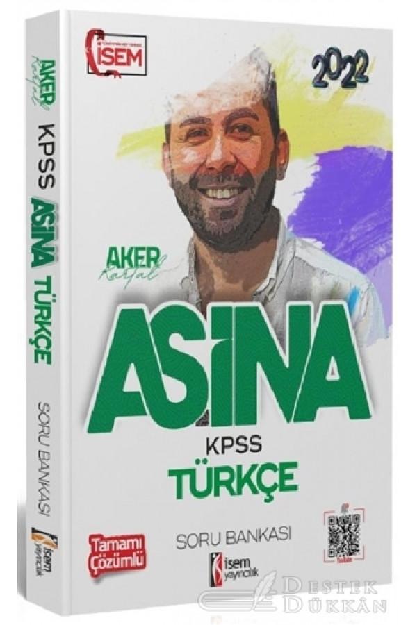 2022 KPSS Aşina Türkçe Tamamı Çözümlü Soru Bankası